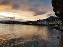 Alps sunset royalty free stock photo