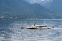 MONTREUX SWITZERLAND/EUROPA, WRZESIEŃ 15, -: Vevey dekatyzuje alo zdjęcia royalty free