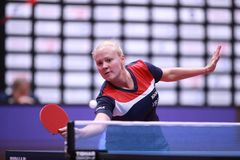 POTA Georgina from Hungary forehand Royalty Free Stock Image