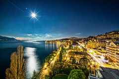 Montreux Switzerland. Montreal city around Geneva lake Switzerland stock photos