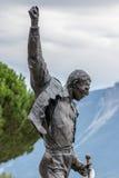 MONTREUX, ZWITSERLAND EUROPA - 15 SEPTEMBER: Standbeeld van Freddie stock afbeeldingen