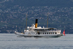 MONTREUX, ZWITSERLAND EUROPA - 15 SEPTEMBER: Vevey die alo stomen royalty-vrije stock fotografie