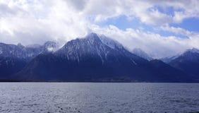 Montreuxbergen Royalty-vrije Stock Afbeelding