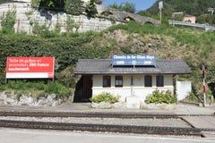 Montreux–Glion–Rochers-de-Naye railway Royalty Free Stock Image