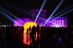 Montrez le cercle de la lumière à Moscou Photo libre de droits
