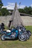 Montrez les motos NARVABIKE dans le territoire de la forteresse du 18 juillet 2010 dans Narva, Estonie Photographie stock
