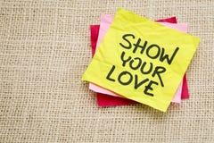 Montrez votre amour Photos libres de droits