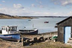Montrose潮水坞在安格斯,苏格兰 免版税库存图片