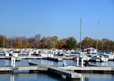Montrose Harbor In The Fall Lizenzfreie Stockbilder