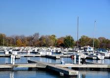 Montrose Harbor In The Fall Imágenes de archivo libres de regalías