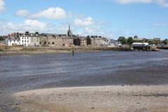 Montrose och floden Esk i Skottland, Storbritannien Arkivbild