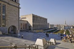 Monts des Arts and Royal library, brussels Royalty Free Stock Photo