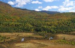 Monts-Valin в предыдущей осени стоковая фотография rf