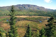 Monts-Valin w wczesnej jesieni Obrazy Stock