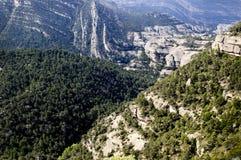 montsant berg för detalj Arkivfoton