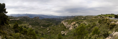 Montsant Landscape. Montsant mountain in Priorat, Catalonia Stock Photo