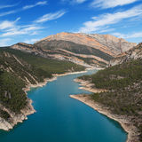 The Montsec and the Canelles reservoir Royalty Free Stock Image