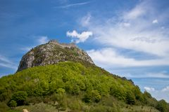 Montsegur城堡 库存图片