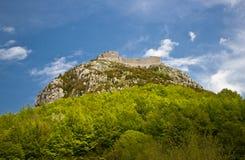 Montsegur-Schloss Stockbild