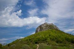 Montsegur-Schloss Lizenzfreies Stockfoto