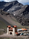 montseny蒙特塞拉特岛山顶视图 免版税图库摄影