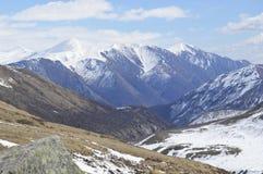 montseny蒙特塞拉特岛山顶视图 免版税库存照片
