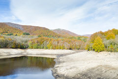 Montseny in Autumn lake Royalty Free Stock Photography
