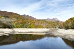 Montseny in Autumn lake Stock Image
