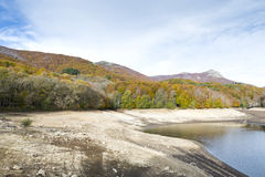 Montseny in Autumn lake Stock Photography