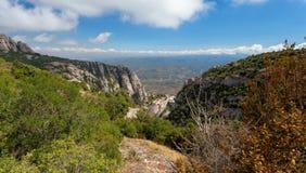 Montserrat är ett berg nära Barcelona Fotografering för Bildbyråer