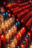 Montserrat świeczki świątynia Zdjęcia Stock
