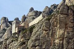 Montserrat. View of the upper cableway station in Montserrat Royalty Free Stock Photos