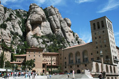 Montserrat. The famous monastery of montserrat near barcelona in catalunia.may 2007 royalty free stock images