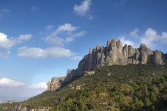 Montserrat. Mountains, barcelona spain with clouds Stock Photography