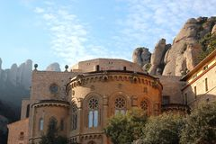 Montserrat. View of Monastery and mountains Stock Images