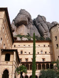 Montserrat. View of Monastery Montserrat and mountains Royalty Free Stock Images