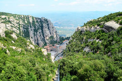 Montserrat Abbey (Barcelona, Katalonien) Lizenzfreie Stockfotos