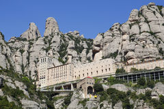 The Montserrat abbey. In Catalonia, Spain Royalty Free Stock Image