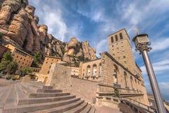 Montserrat Abbey Yard. Montserrat abbey vicinity. Catalonia, Spain Stock Photos