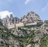Montserrat. The Montserrat abby on the outskirts of Barcelona Spain Royalty Free Stock Photography