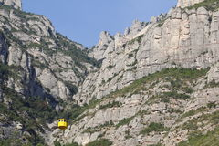 Montserrat and aerial cable car Stock Image