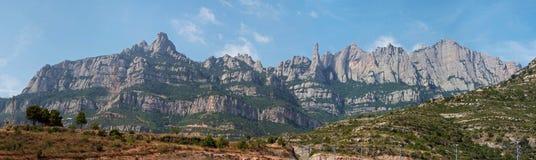 Montserrat Barcellona, in Catalogna Fotografia Stock Libera da Diritti