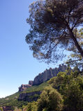 Montserrat, Barcelona Region, Spain. Montserrat is a multi-peaked rocky range located near the city of Barcelona, in Catalonia, Spain. It is part of the Catalan royalty free stock image