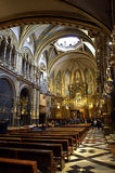 Montserrat Basilica interior,Spain Royalty Free Stock Image