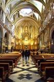 Montserrat Basilica interior,Spain Stock Image