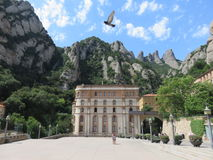 Montserrat. The beauty of nature and architecture in the mountains of barcelona Royalty Free Stock Images