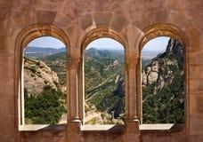 Montserrat-Berg in Katalonien, Spanien Stockfotografie