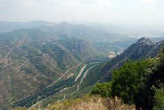 Montserrat berg stock fotografie