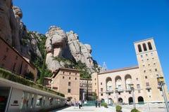 Montserrat berg och abbotskloster i Catalonia, Spanien Royaltyfria Bilder