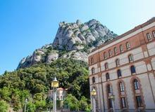 Montserrat berg och abbotskloster i Catalonia, Spanien Royaltyfria Foton